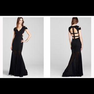 BCBG Ava Cutout Gown